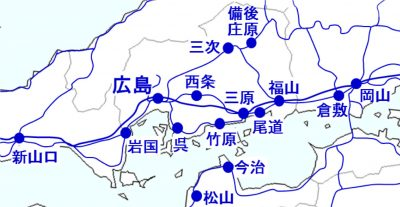setowa 対象エリアマップ