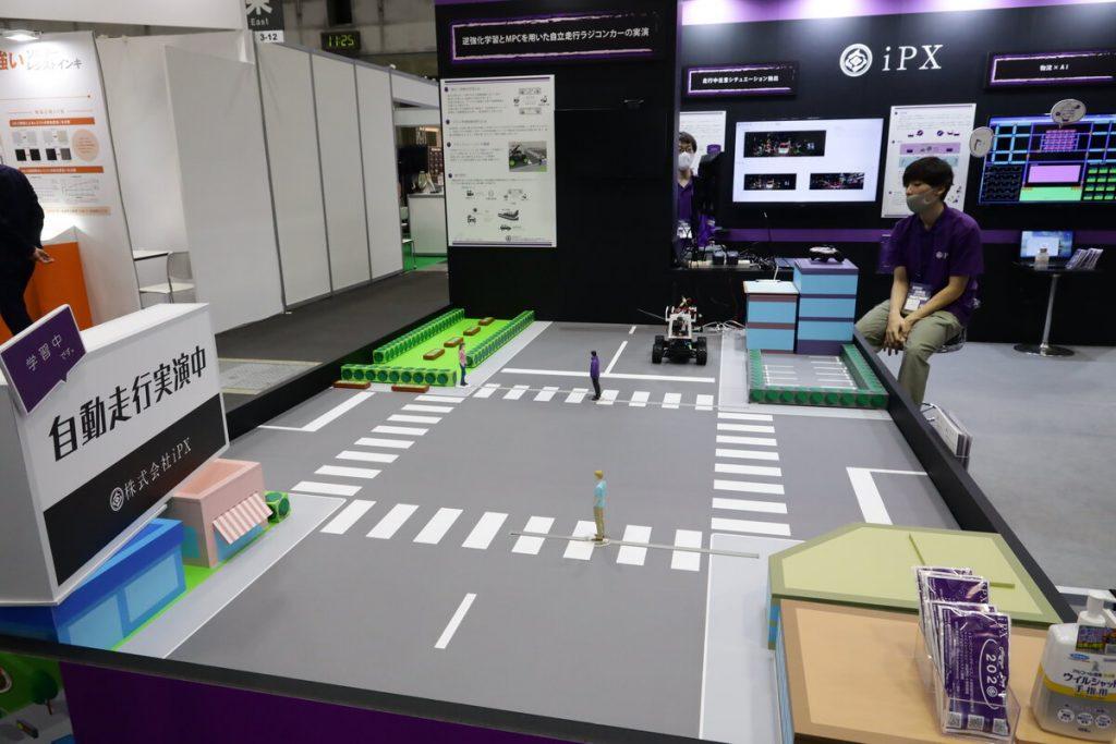 名古屋オートモーティブワールド2020 iPX社 自動走行実演風景