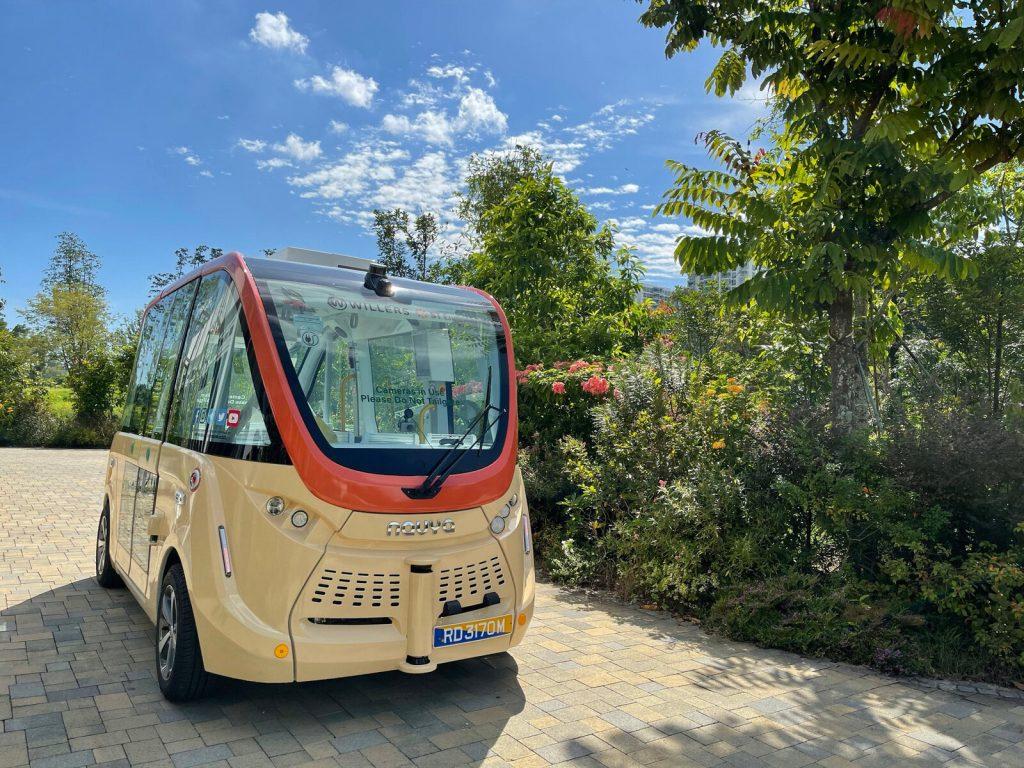 Jurong Lake Gardens 自動運転車両 走行風景