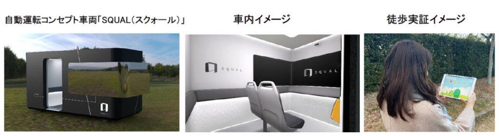 トヨタ 自動運転コンセプト車両「SQUAL(スクォール)」 概要イメージ