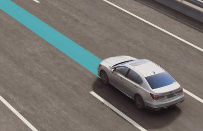 ホンダ レジェンド ハンズオフ機能付車線内運転支援機能 説明イラスト