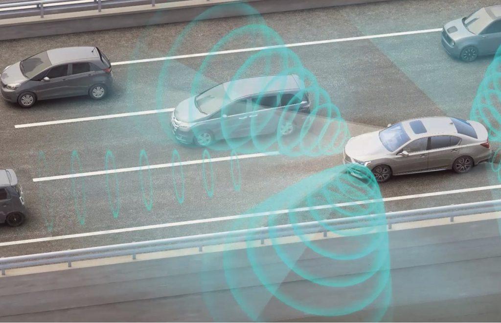 ホンダ レジェンド トラフィックジャムパイロット(渋滞運転機能)説明イラスト